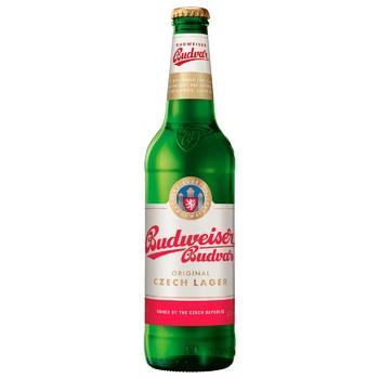 Пиво Будвайзер 1795 светлое пастеризованное стеклянная бутылка 4.7%об. 500мл Чехия - купить, цены на Восторг - фото 1