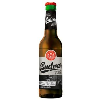 Пиво Budweiser Budvar 4.7% темное 0,5л - купить, цены на Ашан - фото 1