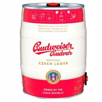 Пиво Budweiser Budvar светлое ж/б 5% 5л