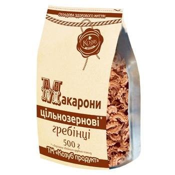 Макароны Козуб продукт цельнозерновые гребешки 500г