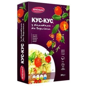 Кус-кус Жменька з томатами та базиліком 200г - купити, ціни на CітіМаркет - фото 1