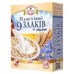 Flakes Kozub 600g 9 cereals + flax c/p