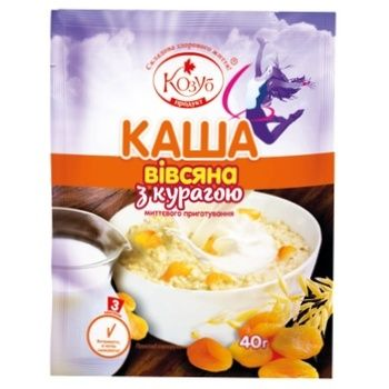 Kozub Oatmeal With Pineapple 40g - buy, prices for Auchan - photo 1