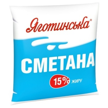 Сметана Яготинская 15% 400г - купить, цены на Ашан - фото 1