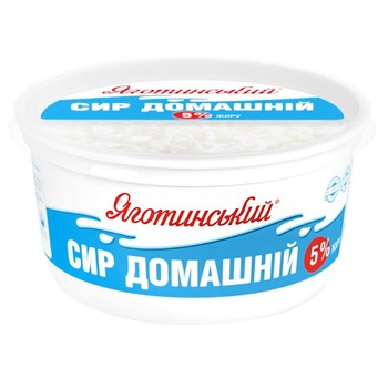Yagotynsky Homemade Cottage Cheese 5% 370g - buy, prices for Auchan - photo 1