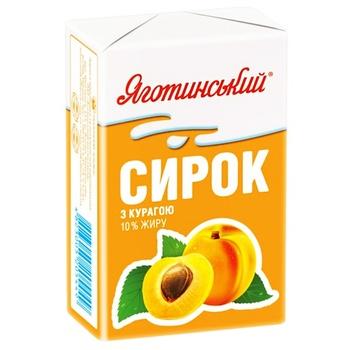 Творожок Яготинский с курагой 10% 90г - купить, цены на Фуршет - фото 1