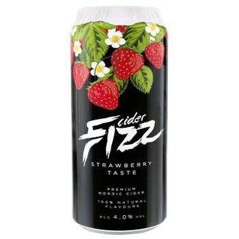 Сидр Fizz Strawberry 4,5% 0,5л - купити, ціни на Ашан - фото 1