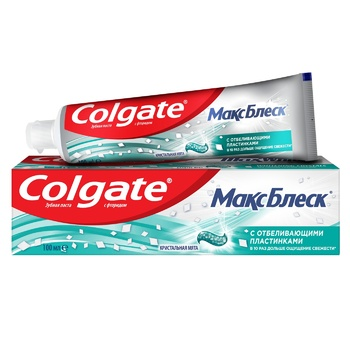 Colgate MaxBlisk Whitening Toothpaste 100ml - buy, prices for MegaMarket - photo 1