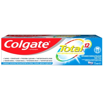 Colgate Total 12 Professional Cleaning Toothpaste 75ml - buy, prices for CityMarket - photo 4
