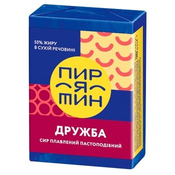 Сыр Пирятин Дружба плавленый пастообразный 55% 90г - купить, цены на Ашан - фото 1