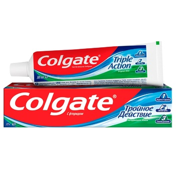 Зубная паста Colgate Тройное Действие Натуральная мята 50мл