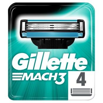 Картриджі для гоління Gillette Mach 3 змінні 4шт - купити, ціни на ЕКО Маркет - фото 1