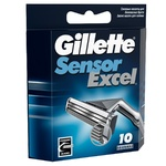 Gillette Sensor Excel Replaceable Shaving Cartridges 10pcs