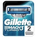 Картриджи для бритья Gillette Mach3 Turbo сменные 2шт
