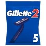 Gillette 2 Disposable Razors 5pcs