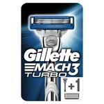 Станок для гоління Gillette Mach 3 Turbo з 2 змінними картриджами