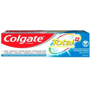 Зубная паста Colgate Total 12 Профессиональная Видимый Эффект комплексная антибактериальная 75мл - купить, цены на Фуршет - фото 6