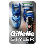 Gillette Fusion5 ProGlide Styler 1 Replaceable Cartridge +3 Nozzles for Modeling Beard and Mustaches