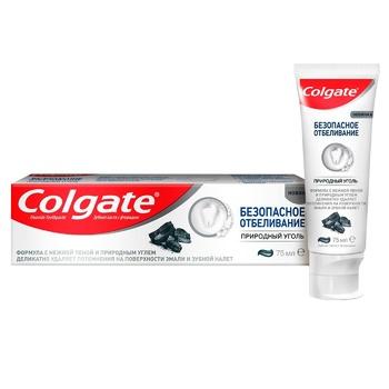 Зубная паста Colgate безопасное отбеливание природный уголь 75мл