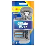 Бритва Gillette Blue3 с 3 сменными касетами