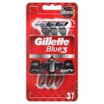 Gillette Blue 3 Nitro Disposable Razors 3pcs