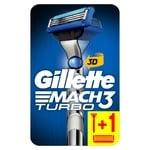 Бритва Gillette Mach3 Turbo 3D з 2 змінними касетами