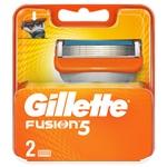 Картриджи для бритья Gillette Fusion сменные 2шт