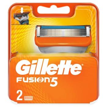 Картриджі для гоління Gillette Fusion змінні 2шт - купити, ціни на ЕКО Маркет - фото 1