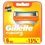 Gillette Fusion5 Replaceable Shaving Cartridges 6pcs