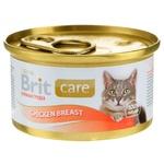 Влажный корм для кошек Brit Care Cat Chicken Breast куриная грудка 80г