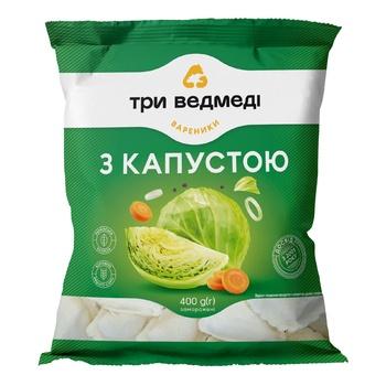 Three Bears Vareniki With Cabbage 400g - buy, prices for EKO Market - photo 1