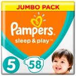 Подгузники Pampers Sleep & Play размер 5 Junior 11-16кг 58шт
