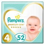 Pampers Premium Care Size 4 Maxi Diapers 9-14kg 52pcs