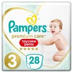 Подгузники-трусики Pampers Premium Care Pants  размер 3 Midi 6-11кг 28шт