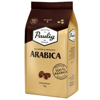 Кофе Paulig Арабика натуральный жареный в зернах 1кг