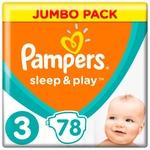 Подгузники Pampers Sleep & Play размер 3 Midi 6-10кг 78шт