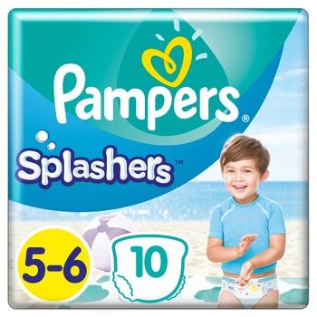 Трусики для плавания Pampers Splashers размер 5-6 Junior 12-17кг 10шт