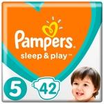 Подгузники Pampers Sleep & Play размер 5 Junior 11-16кг 42шт