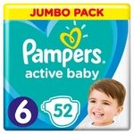 Pampers Active Baby 6 diapers 13-18kg 52pcs