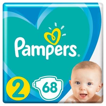 Подгузники Pampers New Baby Размер 2 (4-8 кг) 68шт