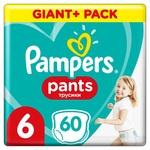 Підгузки-трусики Pampers Pants Розмір 6 15+ кг 60шт