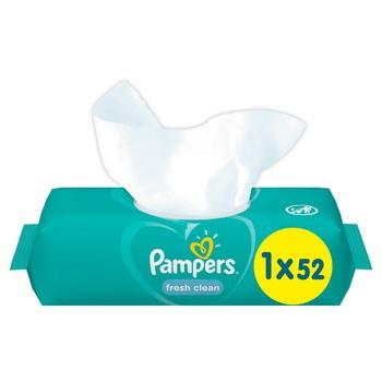 Cерветки Pampers Fresh Clean 52шт - купити, ціни на CітіМаркет - фото 1