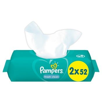 Cалфетки Pampers Fresh Clean 2х52шт - купить, цены на СитиМаркет - фото 1