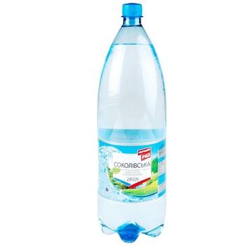 Вода минеральная Первый Ряд Соколовская сильногазированная 2л - купить, цены на ЕКО Маркет - фото 1