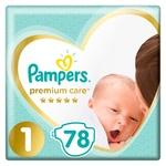 Подгузники Pampers Premium Care размер 1 Newborn 2-5кг 78шт
