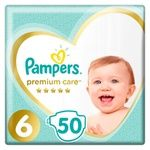 Pampers Premium Care Diapers Size 6  Extra Large 13+kg 50pcs