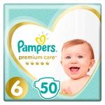 Подгузники Pampers Premium Care размер 6 Extra Large 13+кг 50шт