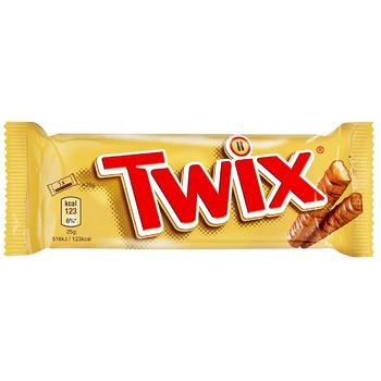 Печенье Twix песочное с карамелью покрытое молочным шоколадом 50г