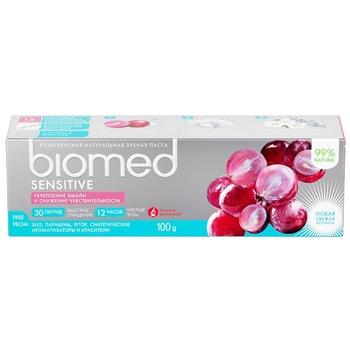 Зубная паста BioMed Sensitive защита от бактерий и кариеса 100мл - купить, цены на ЕКО Маркет - фото 4