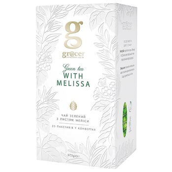 Зелений чай Grace! з листям меліси в пакетиках 25*1.5г - купити, ціни на УльтраМаркет - фото 1